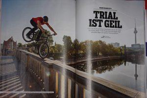 Titelbild von Dominik Raab beim Trialbiken in Berlin
