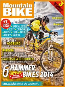 Dominik Raab auf dem Cover des Mountainbike Magazins