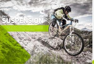 Dominik Raab hat eine Doppelseite im Katalog von Merida Bikes