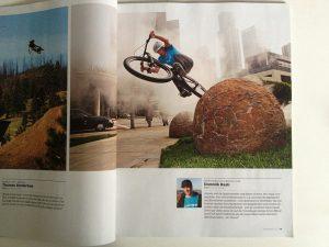 Das Freeride Magazine druckt ein Bild von Dominik Raab aus Los Angeles