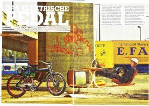 Dominik Raab zeigt was er mit E-Bikes kann im Velosophie Magazin