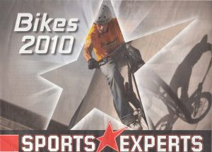 Dominik Raab auf einer Werbeanzeige von Sports Experts