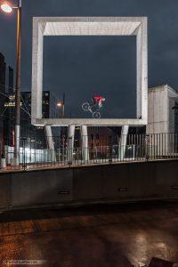 Dominik Raab bei einem Fotoprojekt bei Wien Mitte